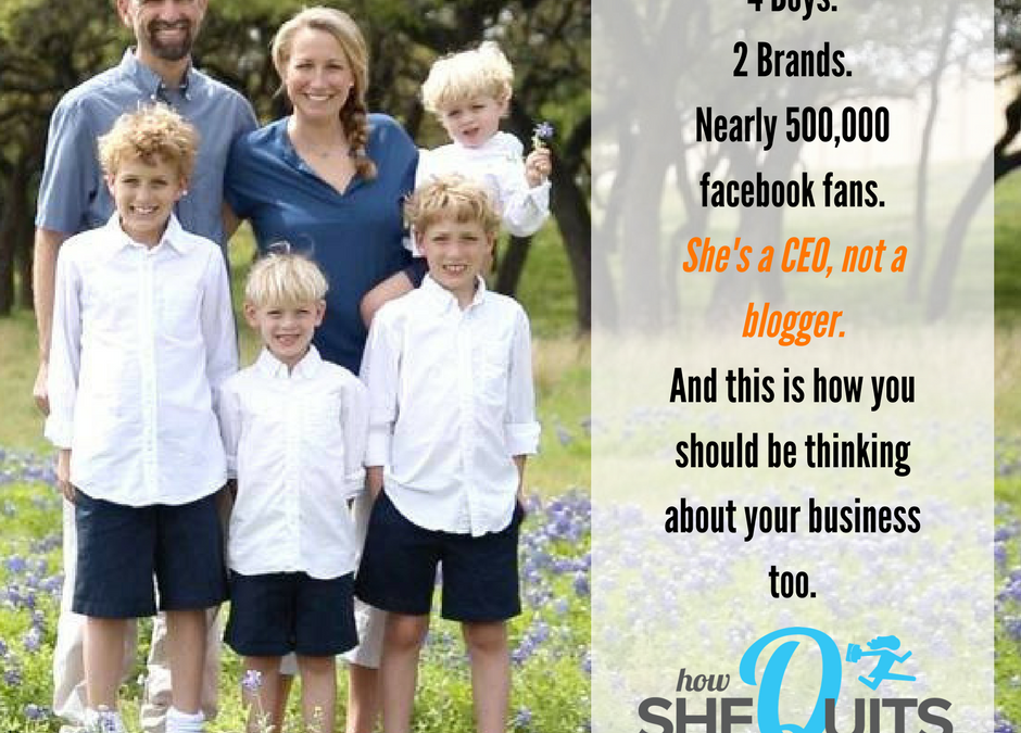 Mom of 4, 6-Figure Blog and What She'd Do if She was Starting Today