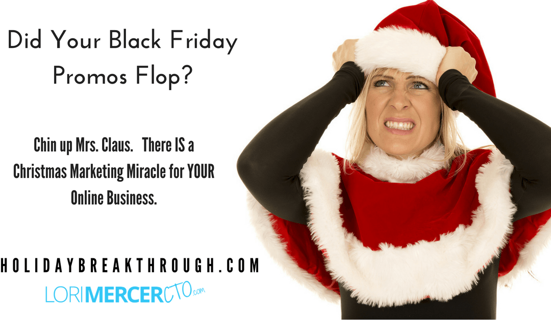 Did Your Black Friday Promos Flop?