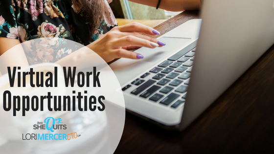 Virtual Work Opportunities January 15, 2018