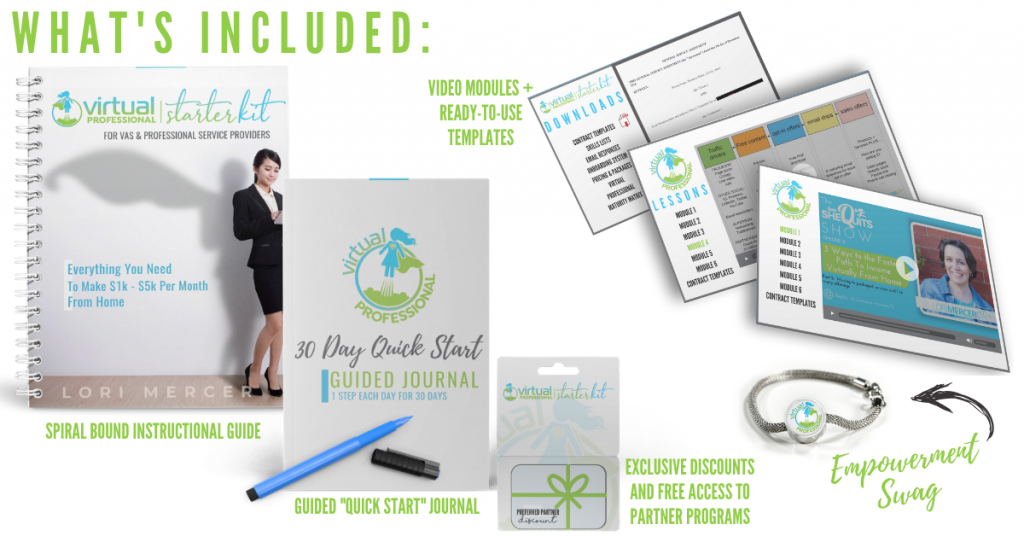 work-from-home Starter Kit for virtual professional jobs